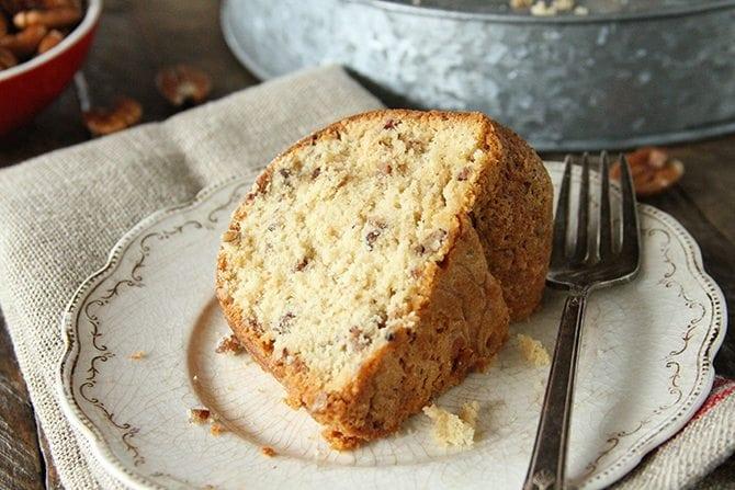 Brown Sugar Pecan Pound Cake - Southern Bite