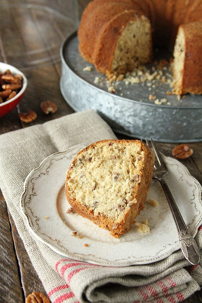 This Brown Sugar Pecan Pound Cake combines the caramel flavors of brown sugar with a dense and moist pound cake and adds nutty pecan flavor just for good measure!