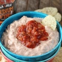 Three simple ingredients are all you need to create the easy and tasty Salsa Chicken Dip!