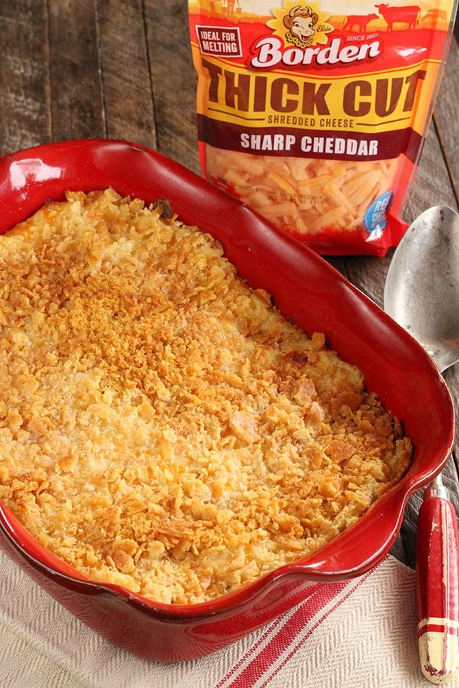 This updated classic Cheesy Hash Brown Casserole recipe is a family favorite! My family always devours this!