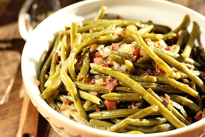How long to cook canned green beans in crock pot