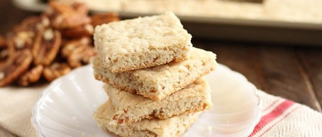 This Easy Pecan Shortbread is seriously the easiest shortbread you'll make. #shortbread #pecan #easy #recipe #ideas #christmas #cookie