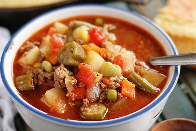 Image result for homemade beef vegetable soup