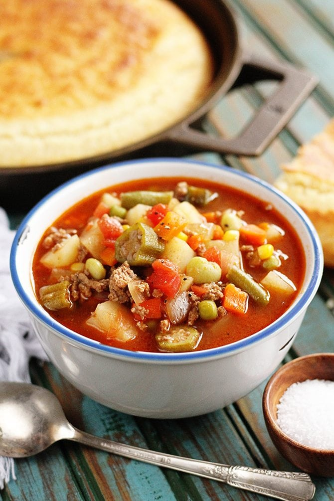 Quick and Easy Vegetable Beef Soup - Southern Bite