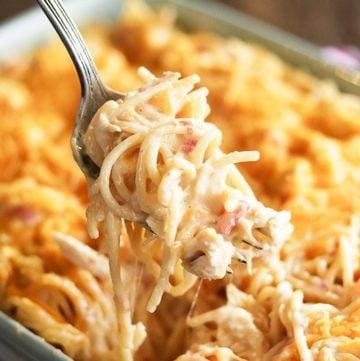 Closer photo of Ultimate Chicken Spaghetti