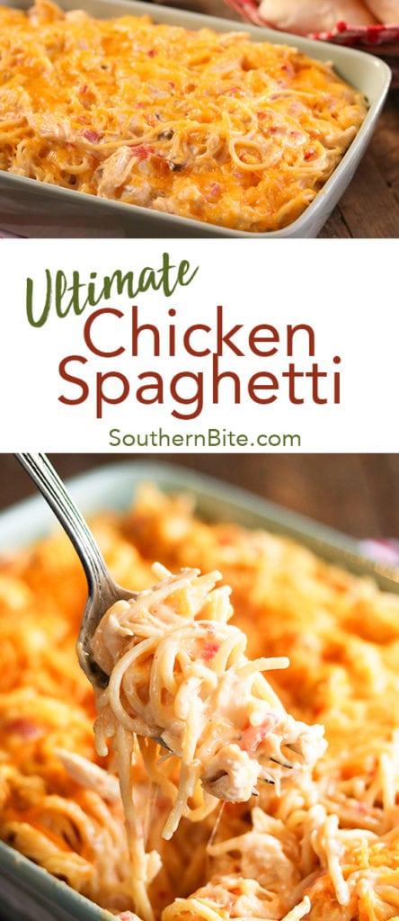 Ultimate Chicken Spaghetti for Pinterest