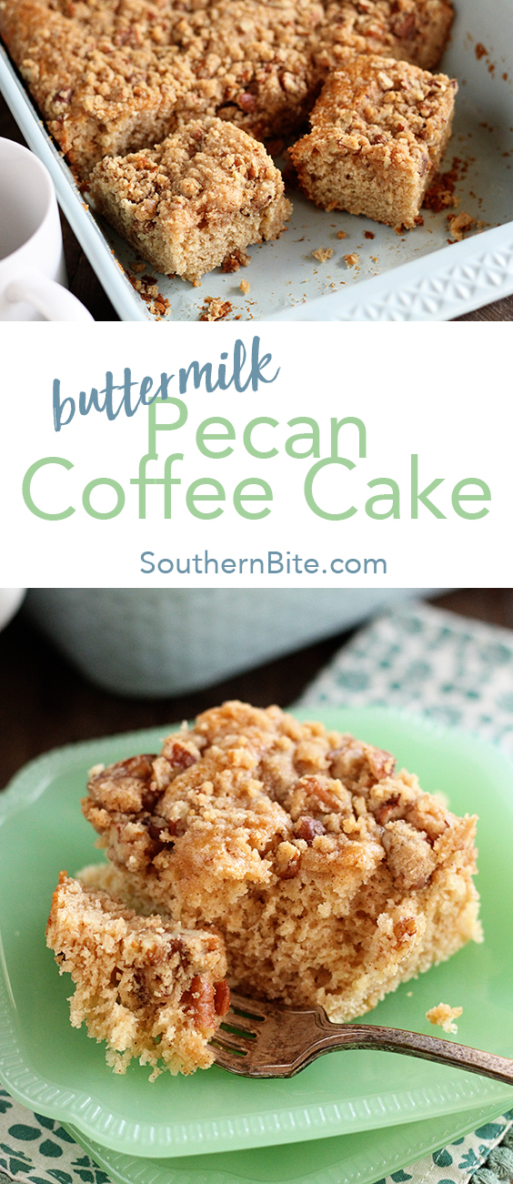 This recipe for Buttermilk Pecan Coffee Cake is so easy and so delicious, it'll be your new favorite breakfast!
