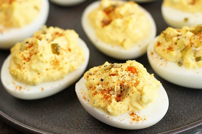 Closer photo of Classic Southern Deviled Eggs