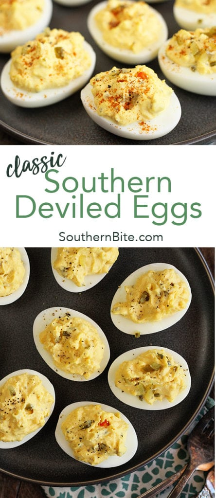 Classic Southern Deviled Eggs for Pinterest