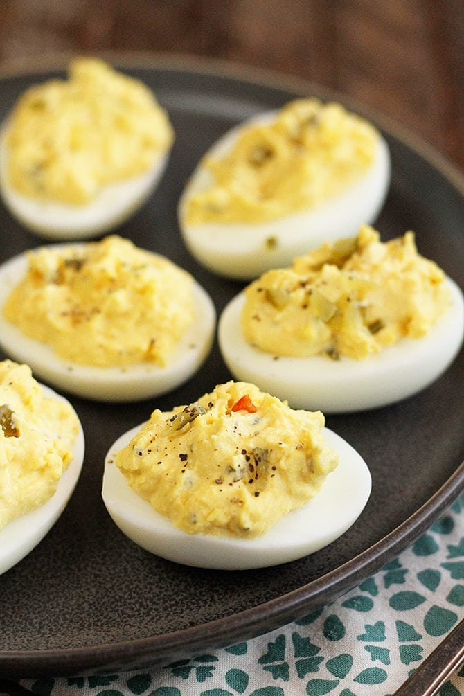 This is the quintessential recipe for Classic Southern Deviled Eggs. It's how my mama always made them. They're easy and delicious. And there's a great shortcut!