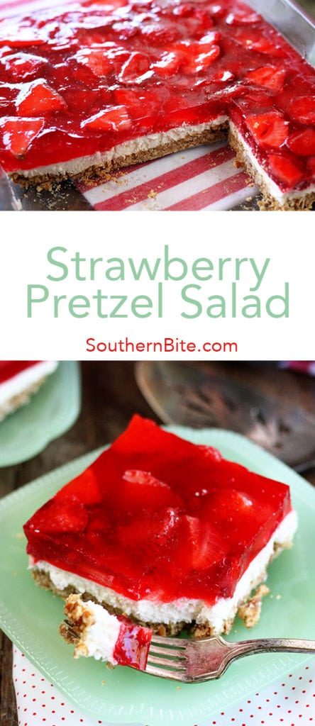 This easy Strawberry Pretzel Salad is a sweet and salty recipe that just screams summer!