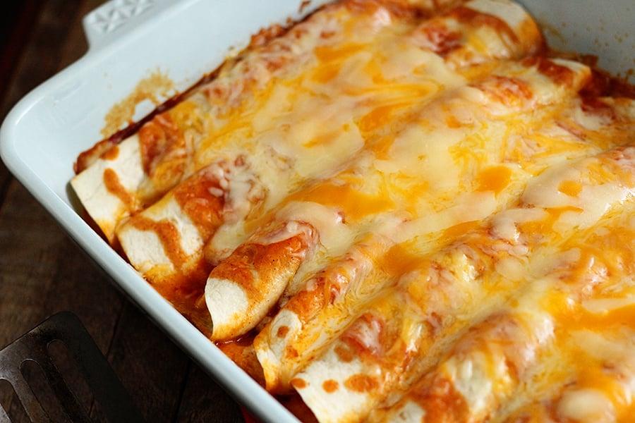 Above photo 5 Ingredient Enchiladas taken from oven