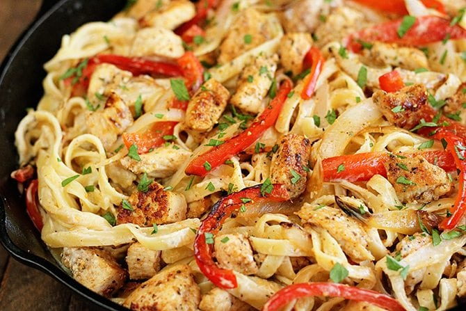 Shortcut cajun chicken pasta southern bite this recipe for shortcut cajun chicken pasta is your new easy weeknight go to supper forumfinder Image collections