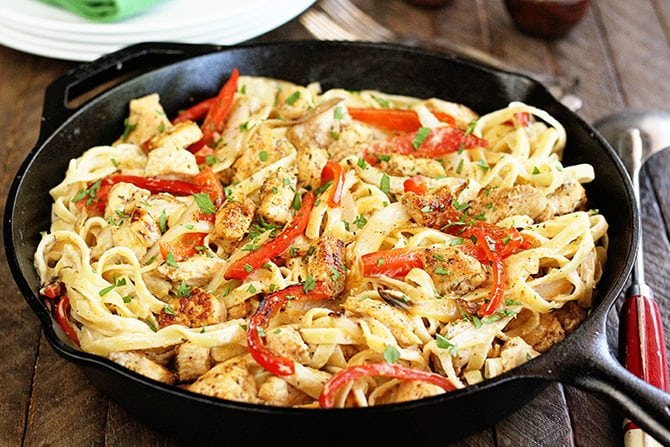 This recipe for Shortcut Cajun Chicken Pasta is your new easy weeknight go-to supper! #cajun #chicken #pasta #easy #recipe #southernbite