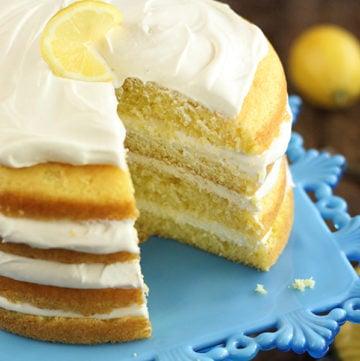 Easy Lemon Cream Cake