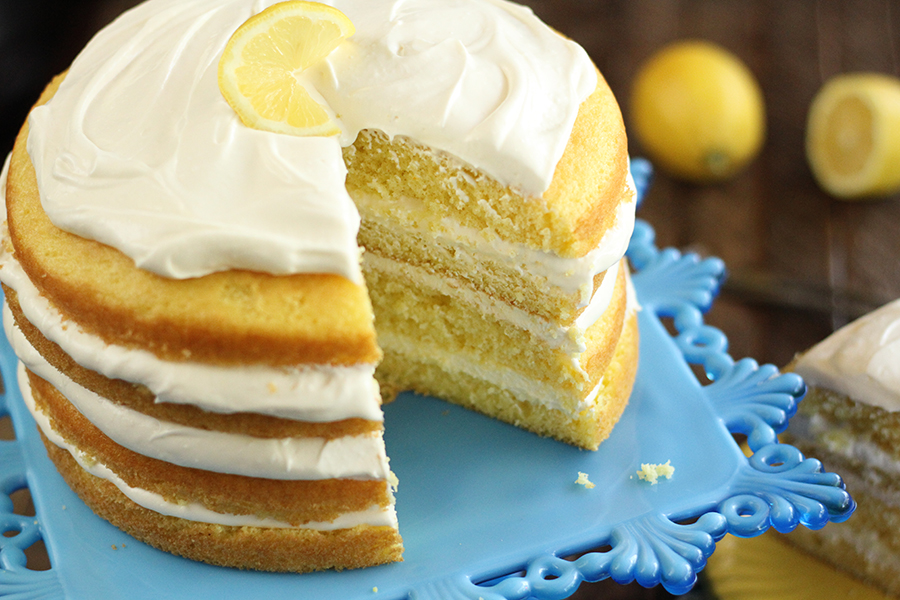 Lemon Cream Cake La Madeleine