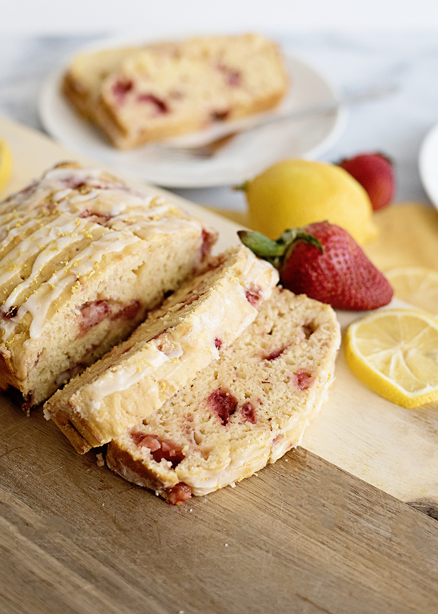 Get all the flavors of spring in this delicious, easy-to-make Strawberry Lemon Yogurt Bread. For breakfast, dessert, or just a snack, it's sure to be family favorite!