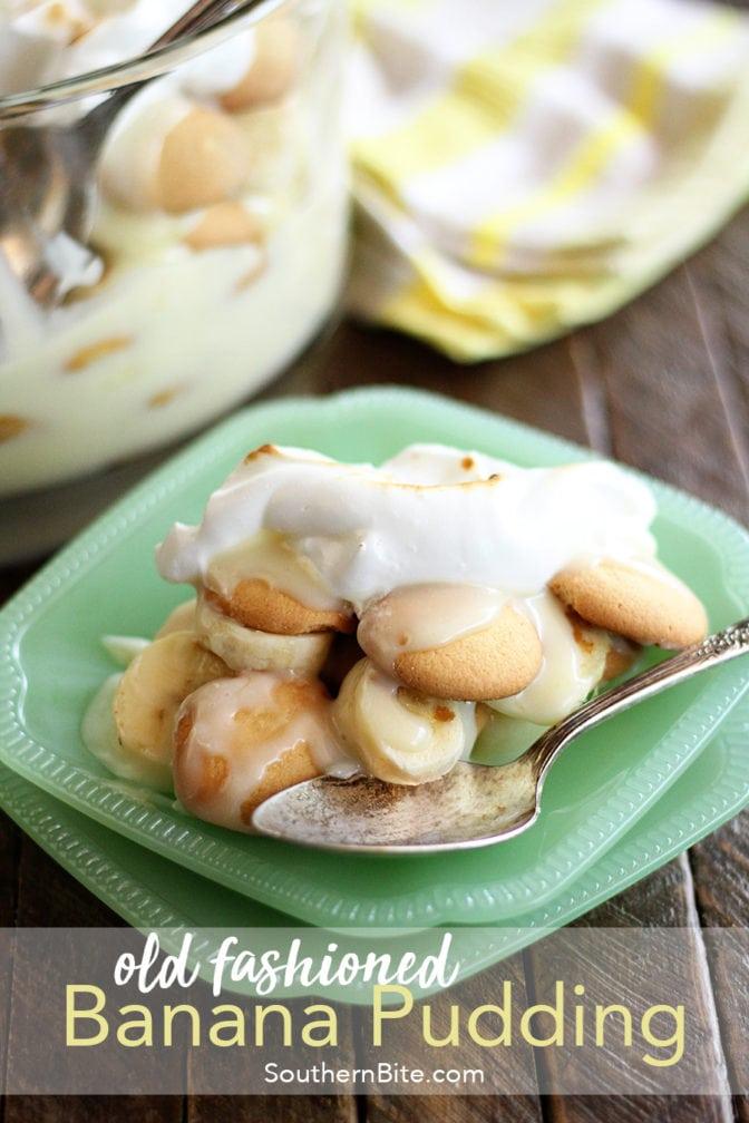 Old Fashion Banana Pudding for Pinterest