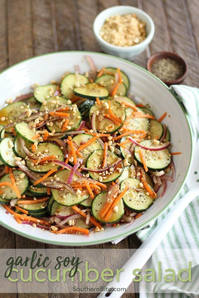 Garlic Soy Cucumber Salad for Pinterest