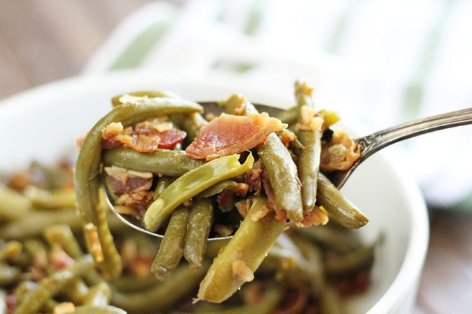 This recipe turns the classic Green Bean Bundles on their head and makes an easy dish with all the flavor and half the work. These Unbundled Green Beans are going to be a new family favorite!