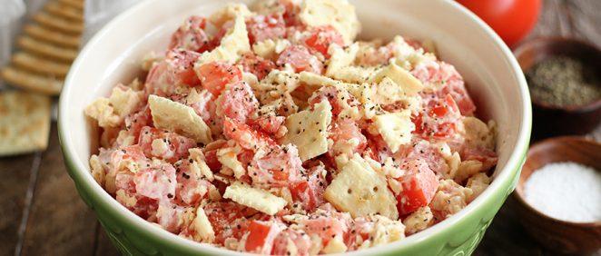 Southern bite stacey littles southern food recipe blog tomato cracker salad forumfinder Images