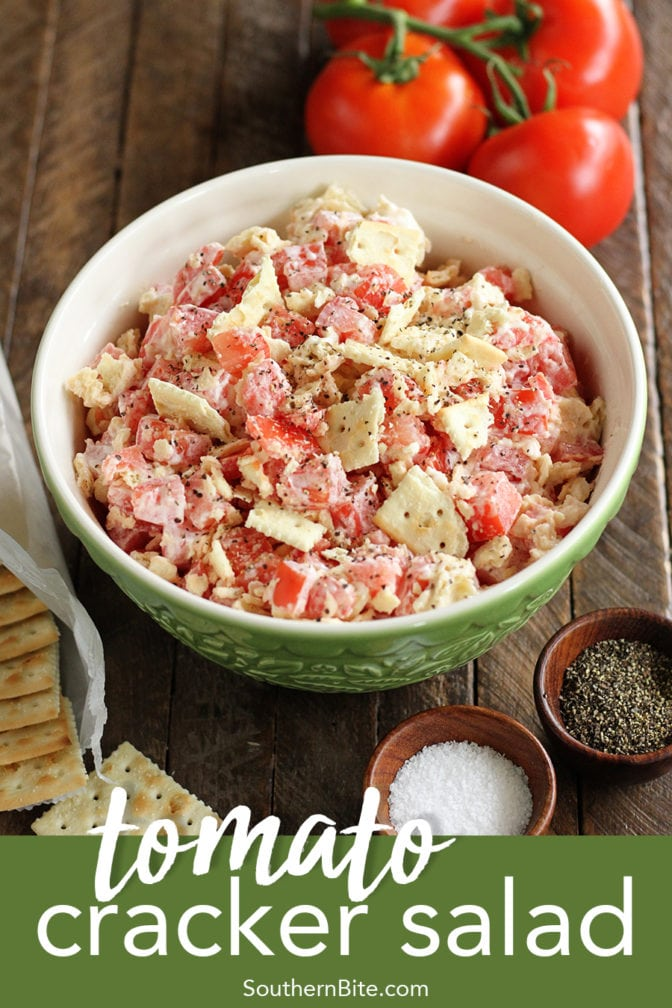 Tomato and Cracker Salad for Pinterest