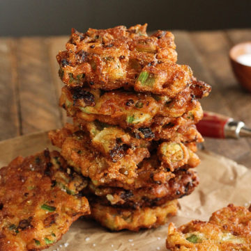 Okra and Green Tomato Fritters
