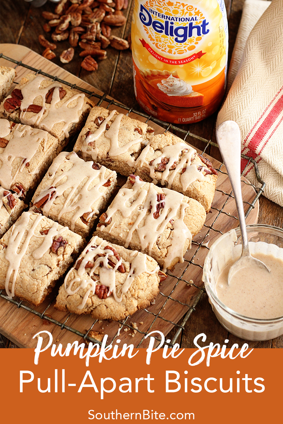 These Pumpkin Pie Spice Pull-Apart Biscuits are the perfect taste of fall. Plus, it's such an easy recipe!