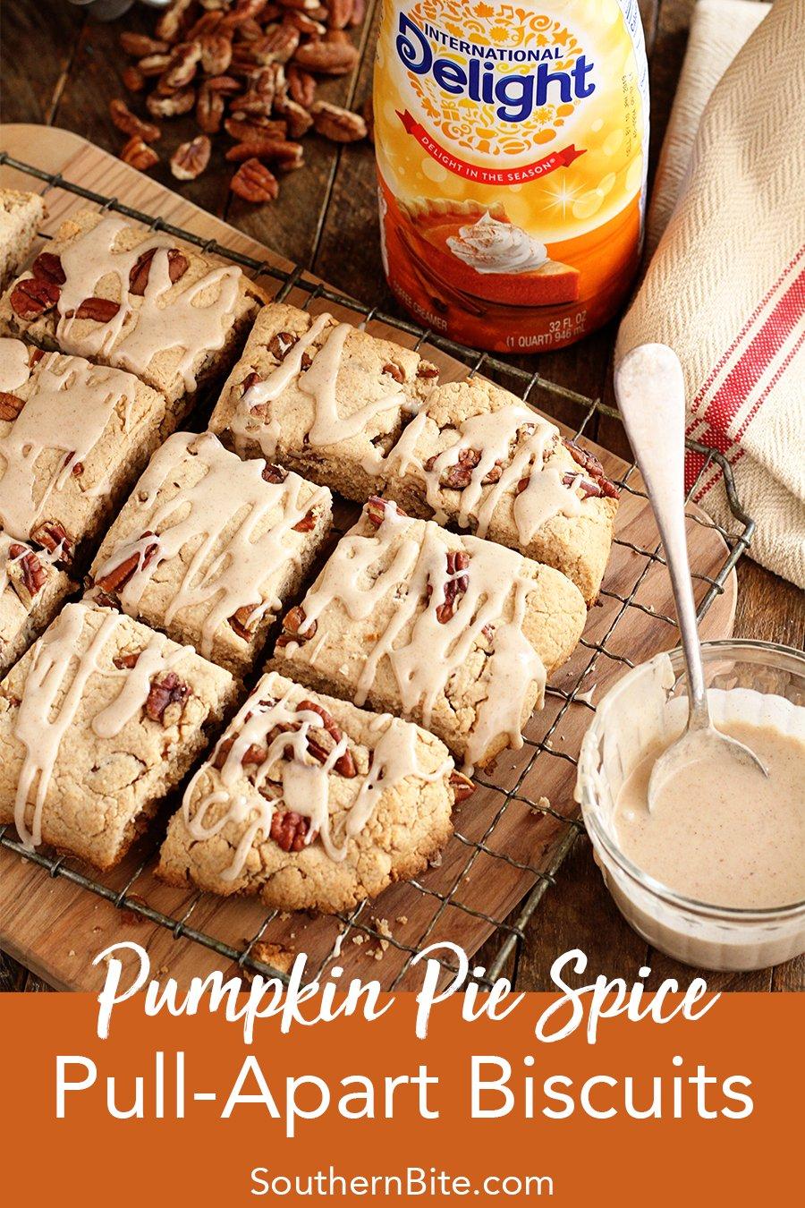 Pumpkin Pie Spice Pull Apart Biscuits for Pinterest