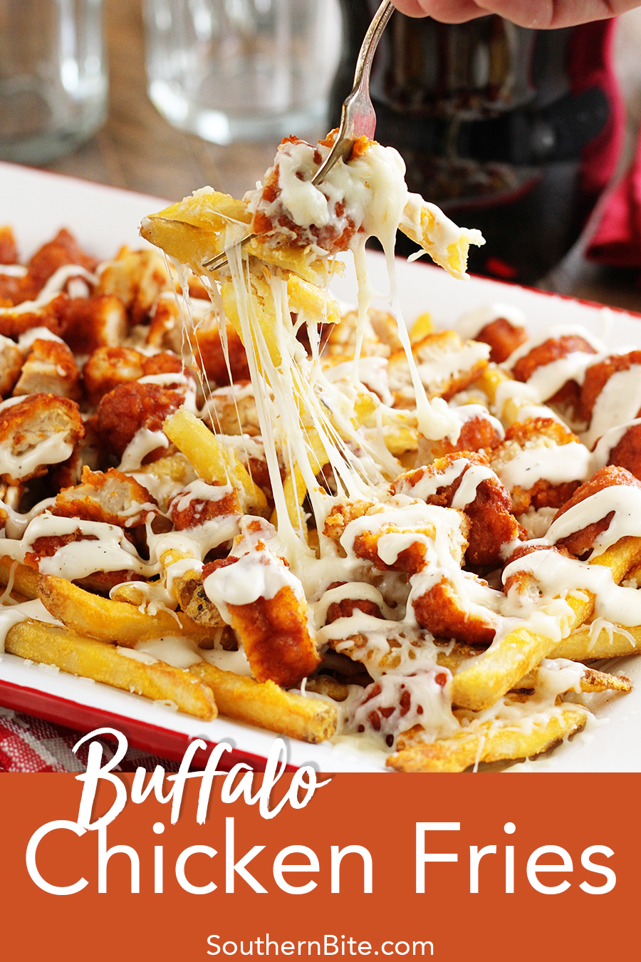 This easy recipe for Buffalo Chicken Fries will prove that game day eats can be easy, cheap, but still crazy delicious!