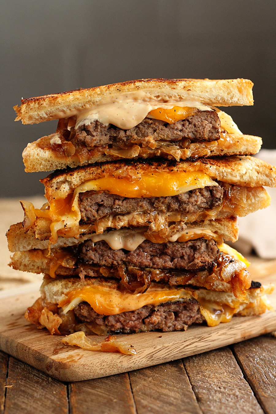 This easy recipe for gooey, cheesy Patty Melts is made even easier by using Chop House Steak Burgers! They're the perfect solution for busy weeknight meal dilemmas! #sponsored