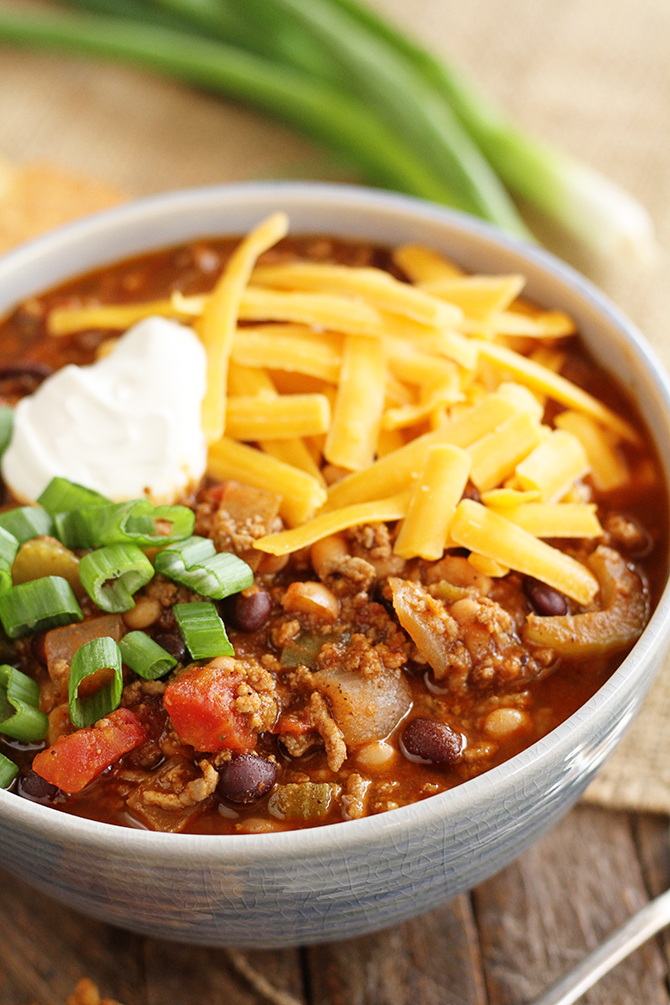 This super easy Bloody Mary Chili recipe is elevated with the flavors of the classic bloody mary!