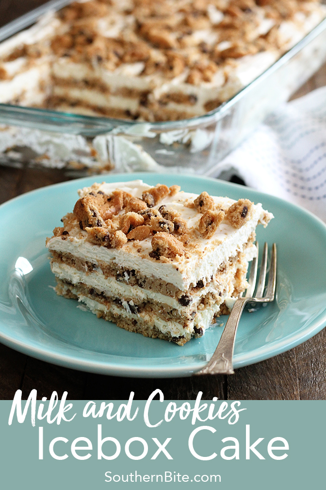 This recipe for Milk and Cookie Icebox Cake only calls for 5 ingredients but your kids (and adults too!) will love it!