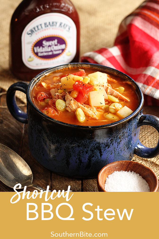 This shortcut BBQ Stew recipe has all the flavor of the classic Brunswick or Camp stew but with half the work!