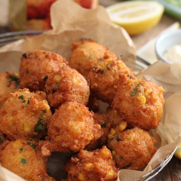 Easy Shrimp and Corn Fritters