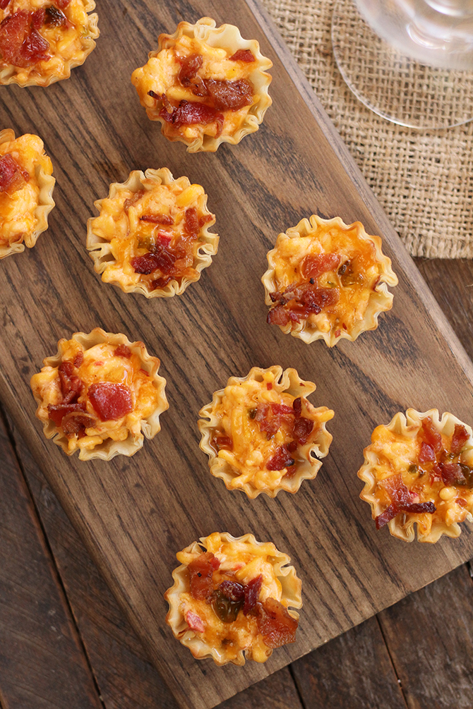 These Bacon Pimento Cheese Bites are the perfect sweet and salty appetizer recipe for the holidays... or any day!