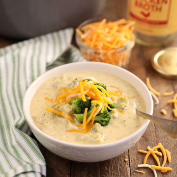 Super Simple Broccoli Cheese Soup