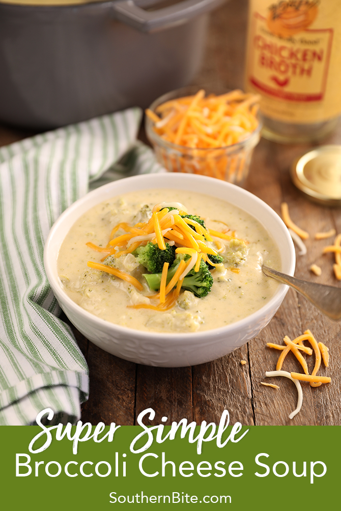 Broccoli Cheese Soup doesn't have to be time consuming and complicated! My recipe for Super Simple Broccoli Cheese Soup has tons of flavor like the classic dish but with only about half the work! It's quick, easy, and so simple!