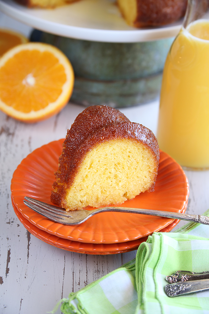 This recipe for my super easy Orange Juice Cake starts with a simple cake mix but turns into something amazing when you soak it in a delicious orange juice glaze!