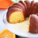 Orange Juice Cake with slices mssing