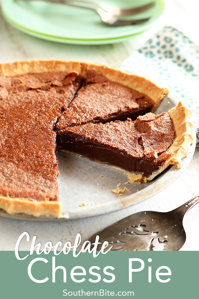 This recipe for the classic southern Chocolate Chess Pie is quick, easy, and super delicious!