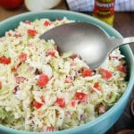 Pepper Sauce Cole Slaw being Served