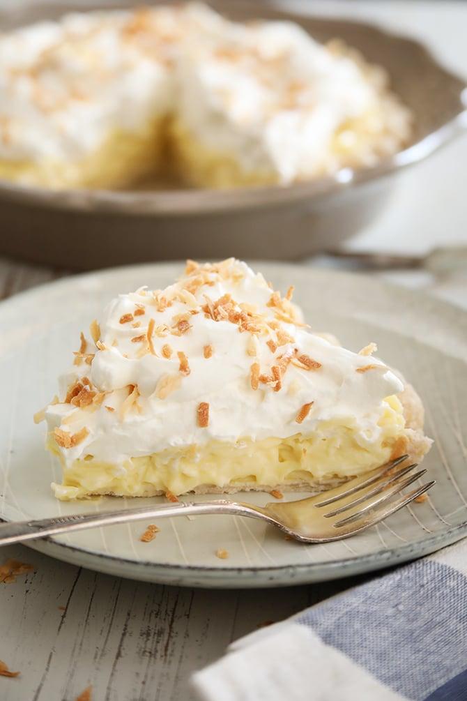 Coconut Cream Pie being served