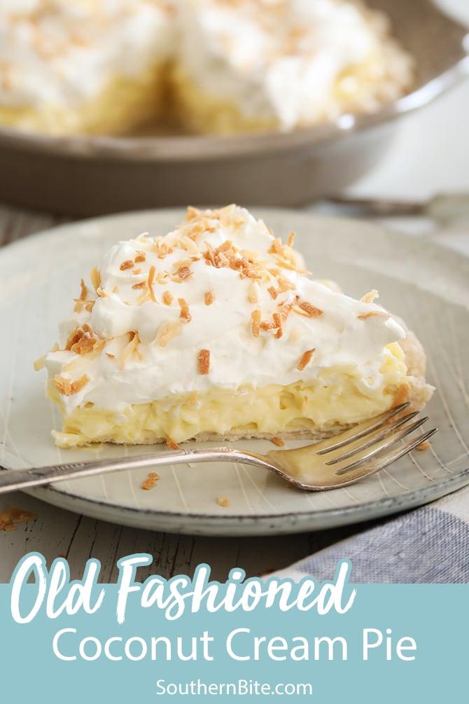 Coconut Cream Pie for Pinterest