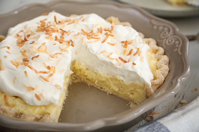This easy classic recipe for Old Fashioned Coconut Cream Pie is deliciously thick and creamy with tons of coconut flavor because of the addition of a little coconut extract.