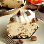 Peanut butter Cup Pie served on dish