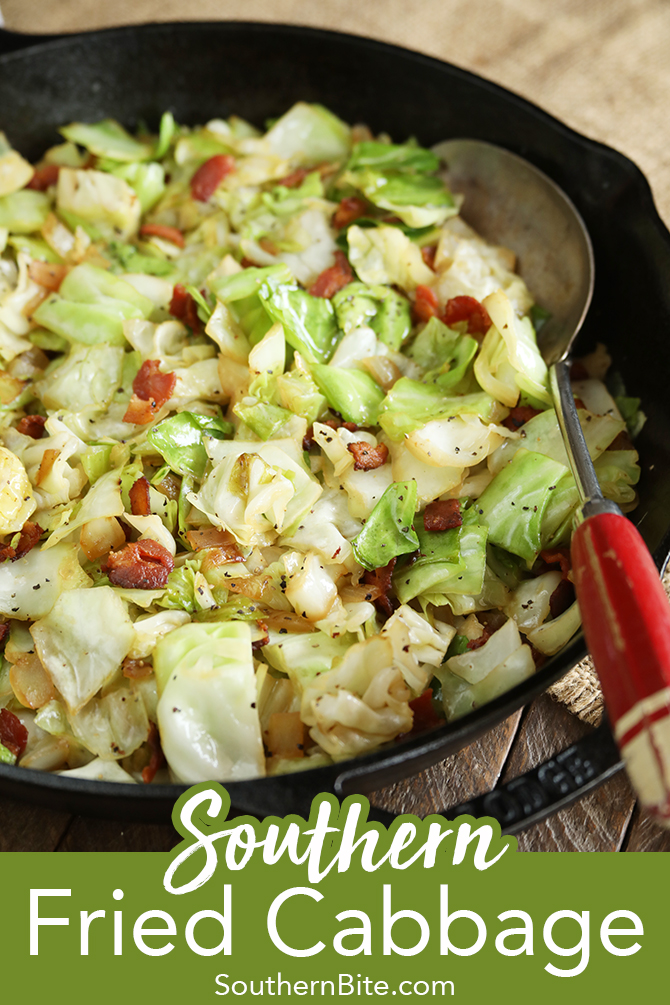 Southern fried cabbage for Pinterest