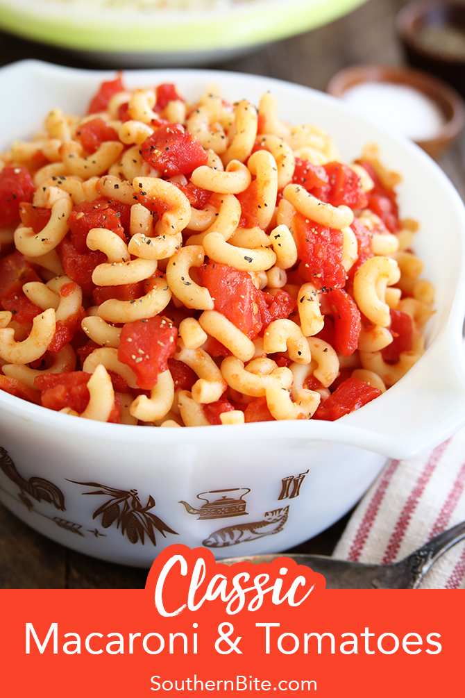 Macaroni and tomatoes for Pinterest
