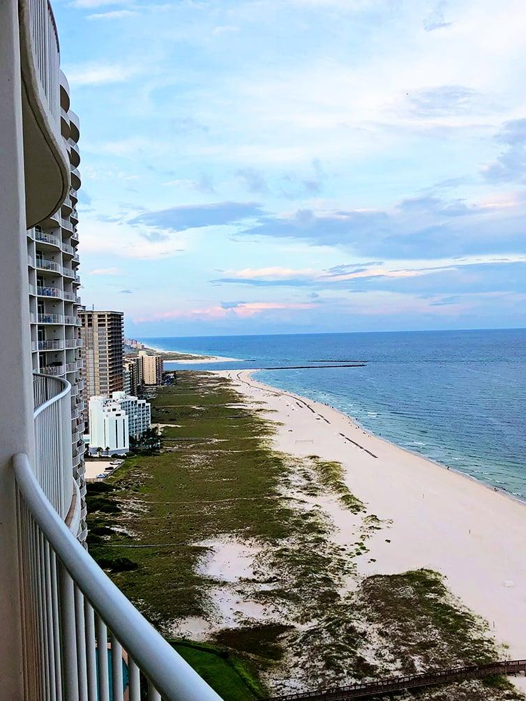 Photo of beach from balcony