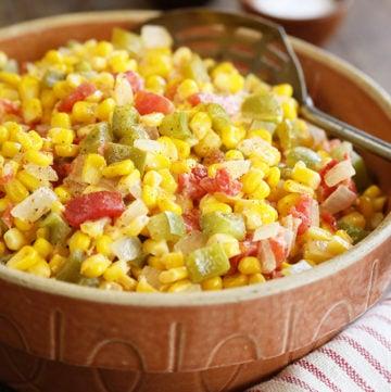 Easy Corn Maque Choux